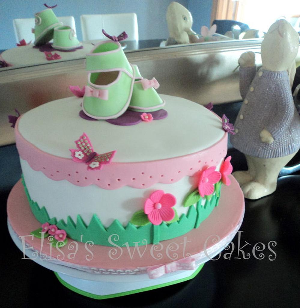 Baby Girl Cake by Elisa's Sweet Cakes