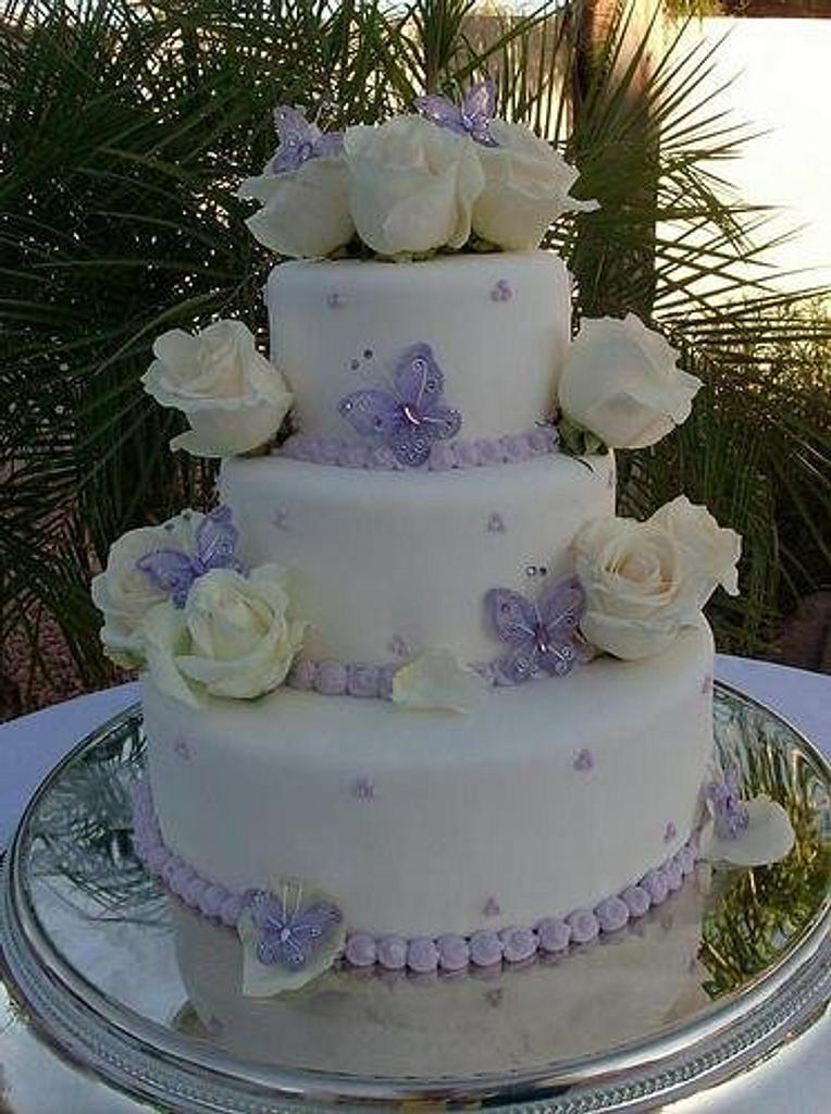 Butterfly Wedding Cake by Blairscustomcakes