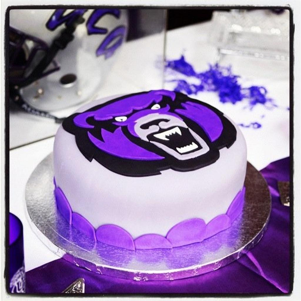 Groom's cake for a UCA Bears fan by Jeremy