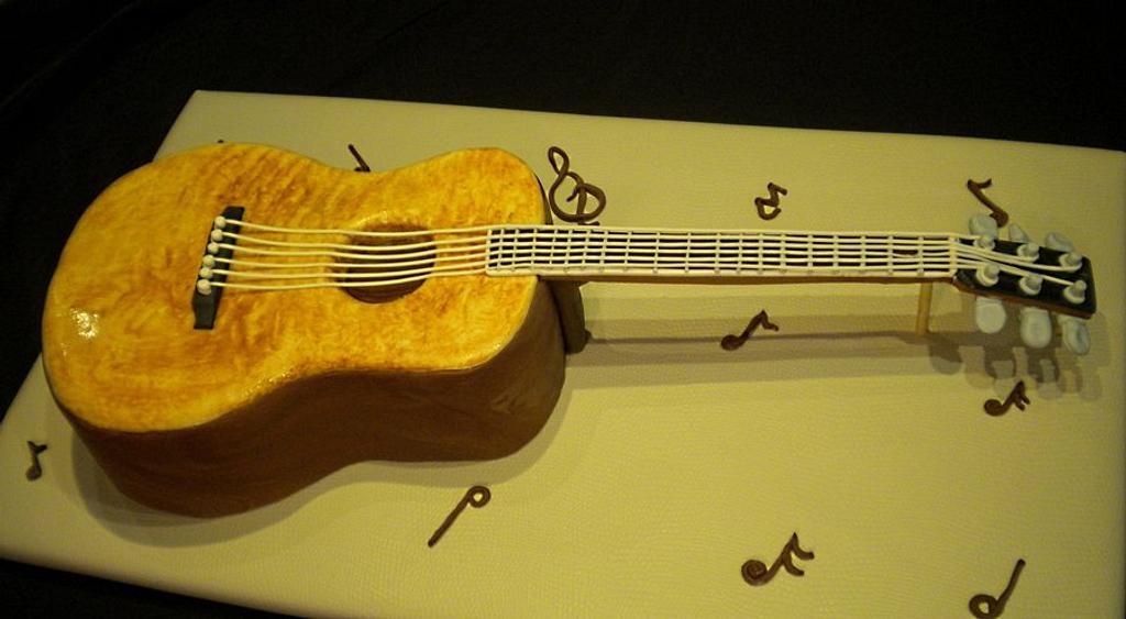 Guitar Groom's Cake by Janan