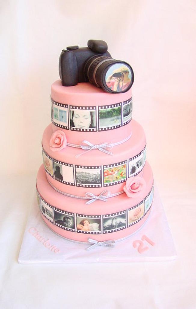 Camera Cake by verjaardagstaartenbestellen.nl by Linda