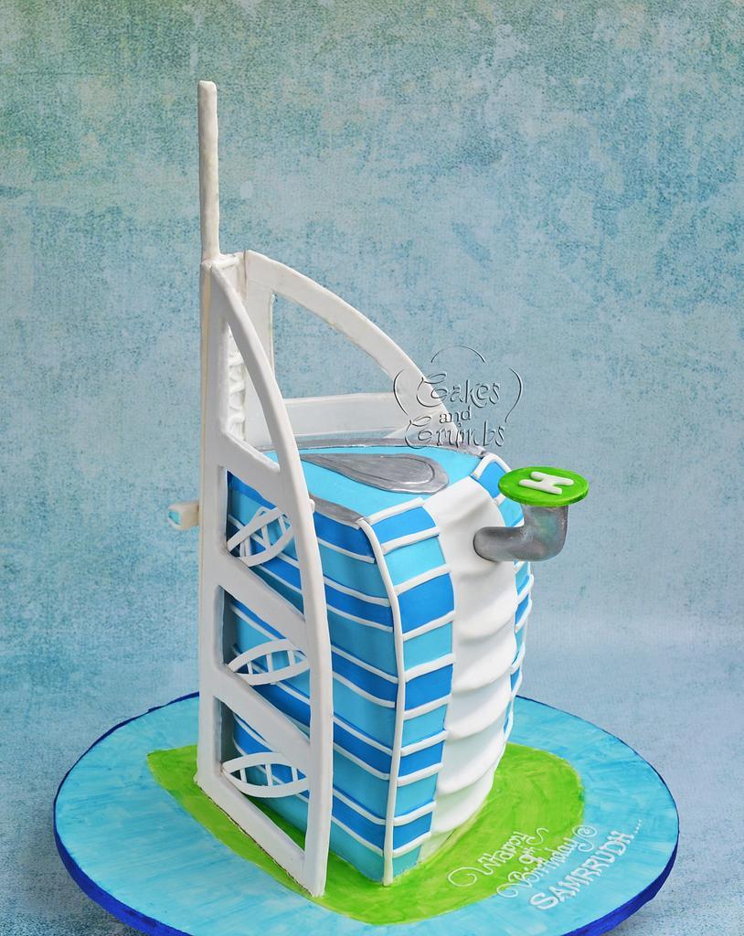 Burj Al Arab Cake !! by Hima bindu