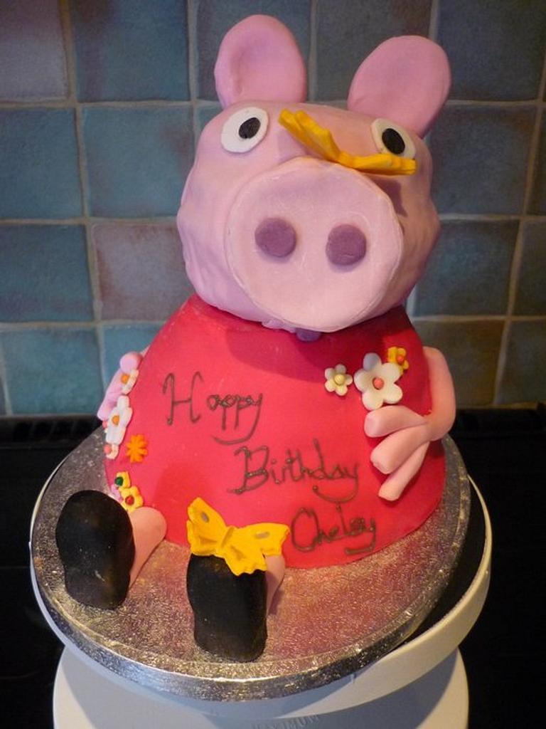 Peppa Pig Cake by silky_nics
