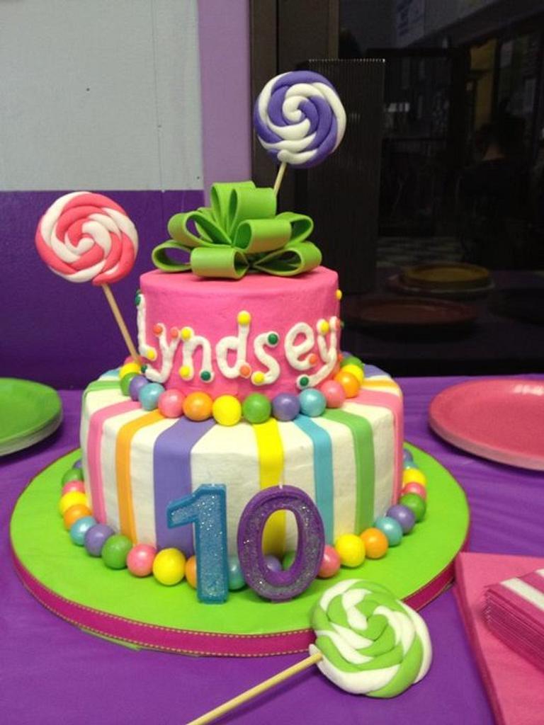 Lollypop Birthday Cake by Tonya