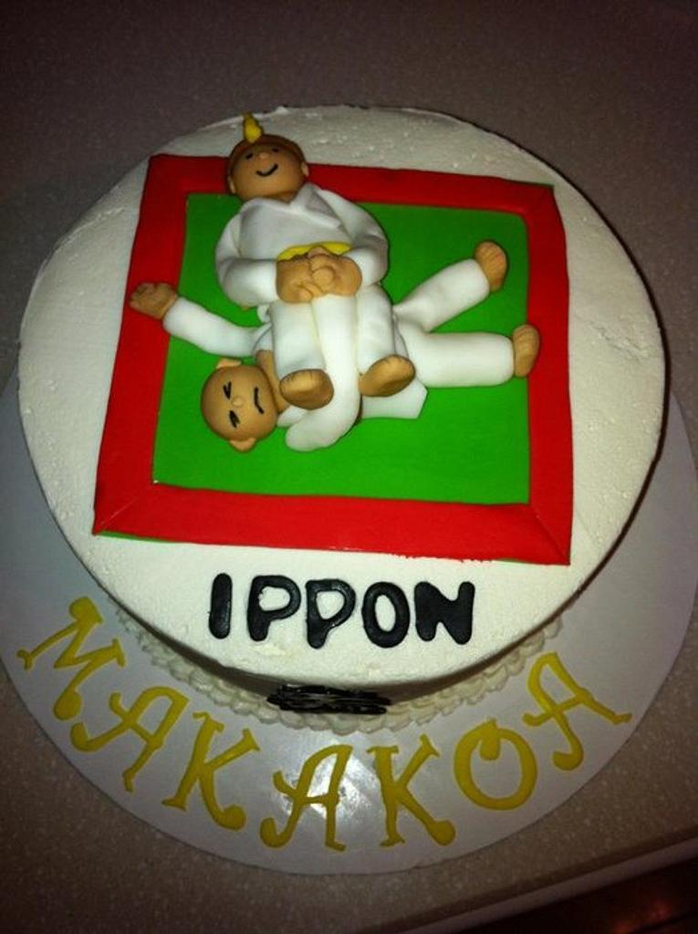 Judo cake by Daniella