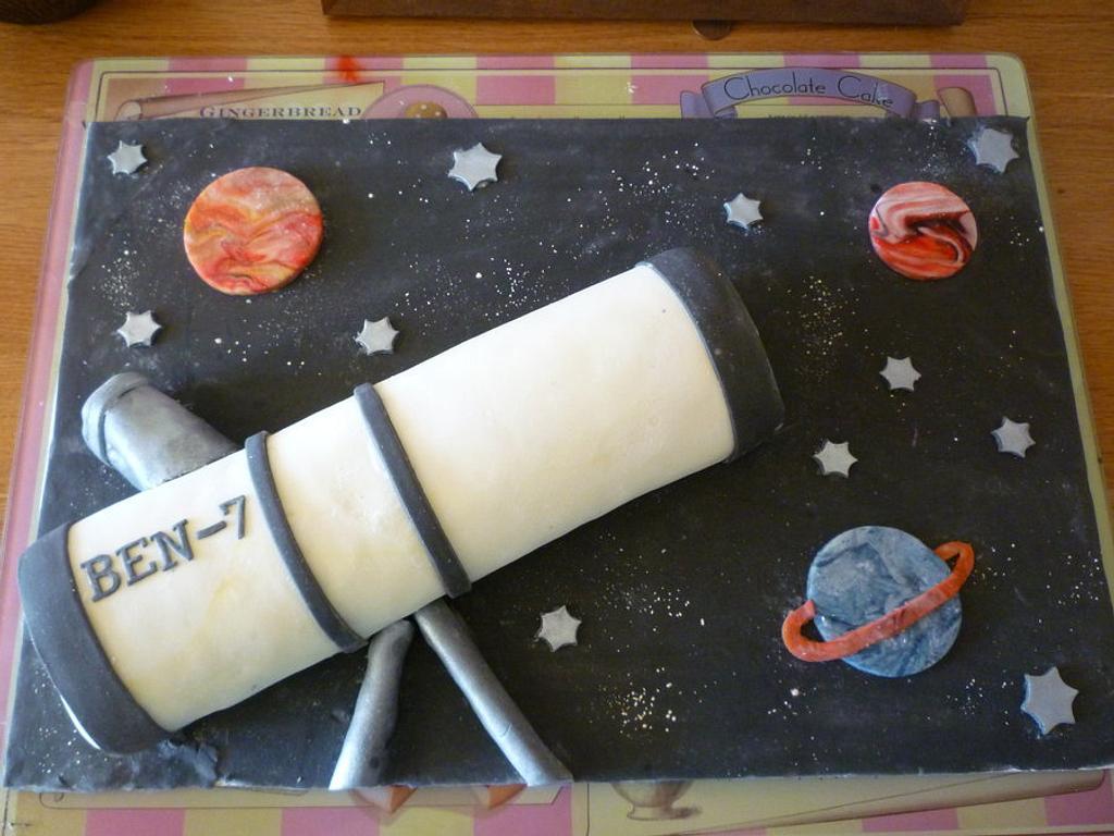 Telescope cake by The Faith, Hope and Charity Bakery