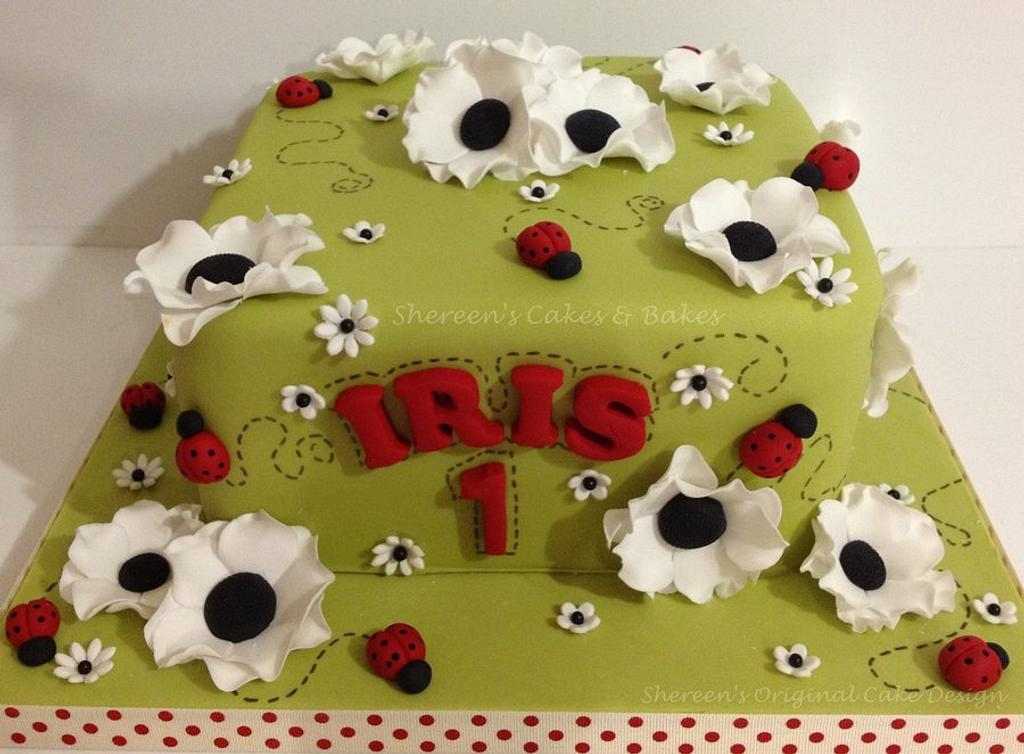 Ladybug Cake by Shereen