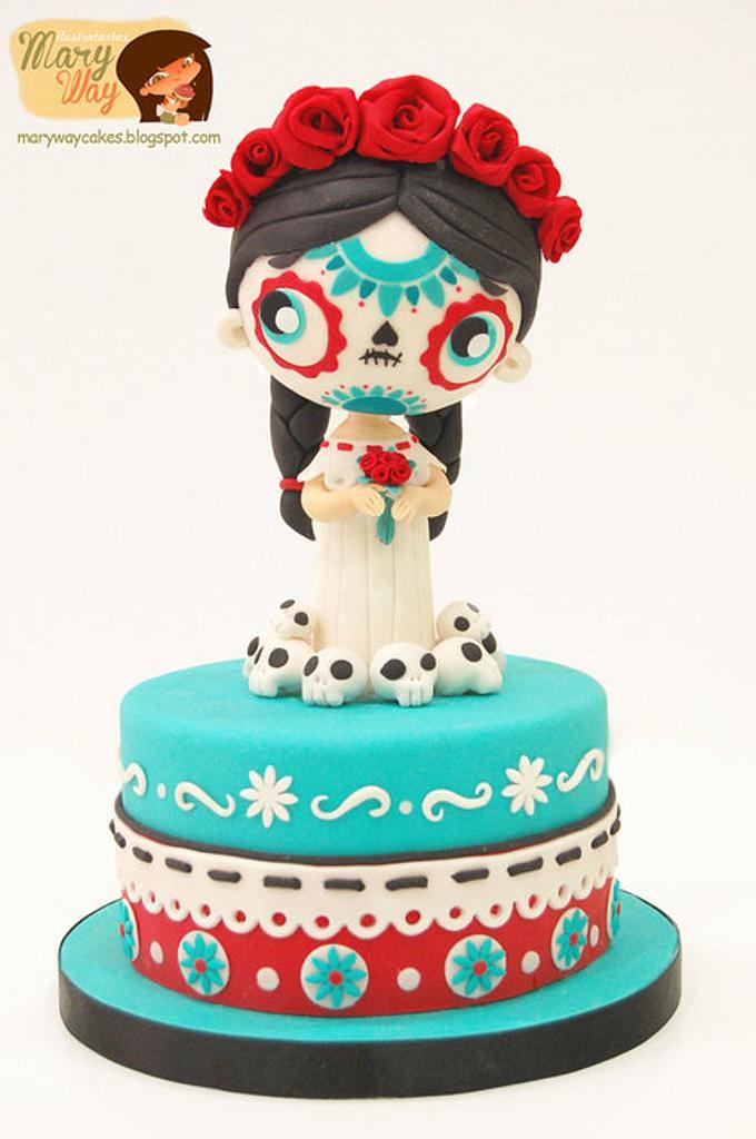 Saint Death Cake by MaryWay