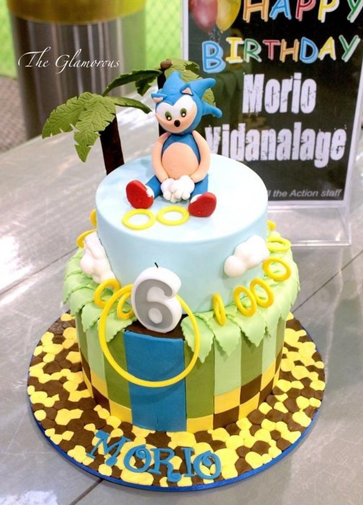 Sonic cake by theglamorouscakes