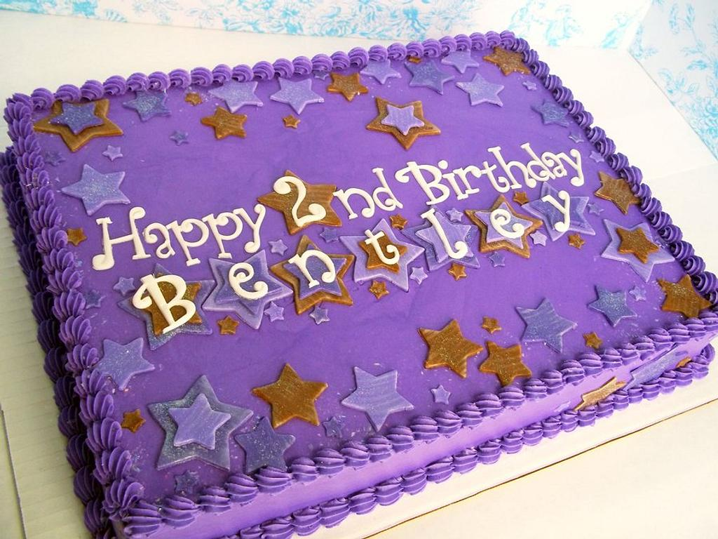 Purple and Brown Stars Birthday by Corrie