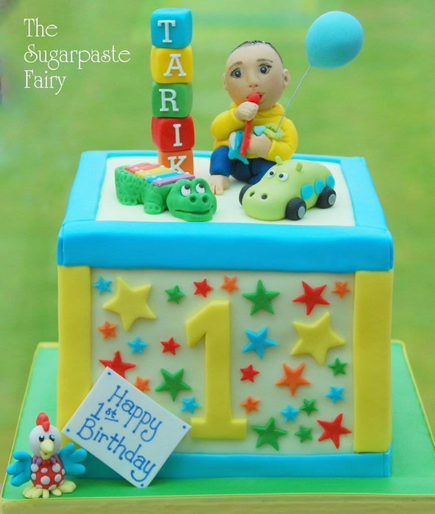First Birthday Block by The Sugarpaste Fairy