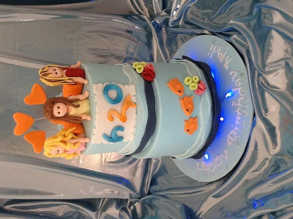 H20 themed cake by Priscilla's Cakes
