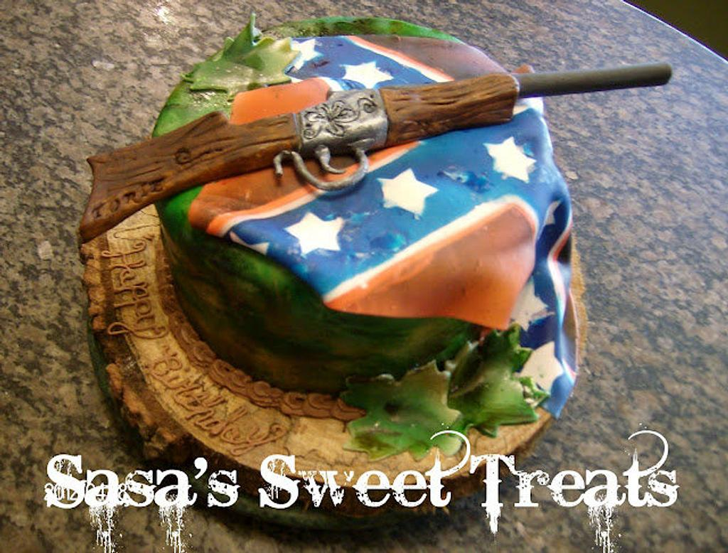 Rebel flag cake by Sara