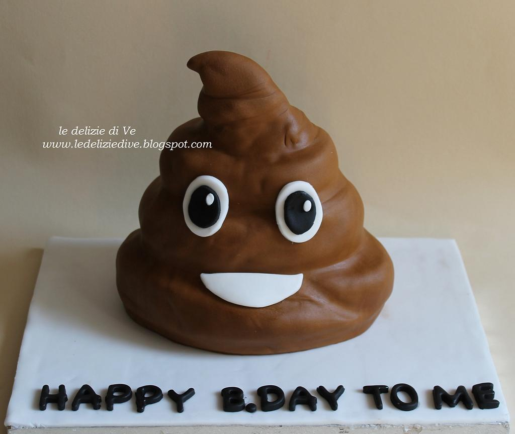 poop's emoticon cake by le delizie di ve