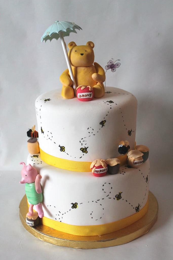 Classic Winnie the Pooh shower cake by Sarah F