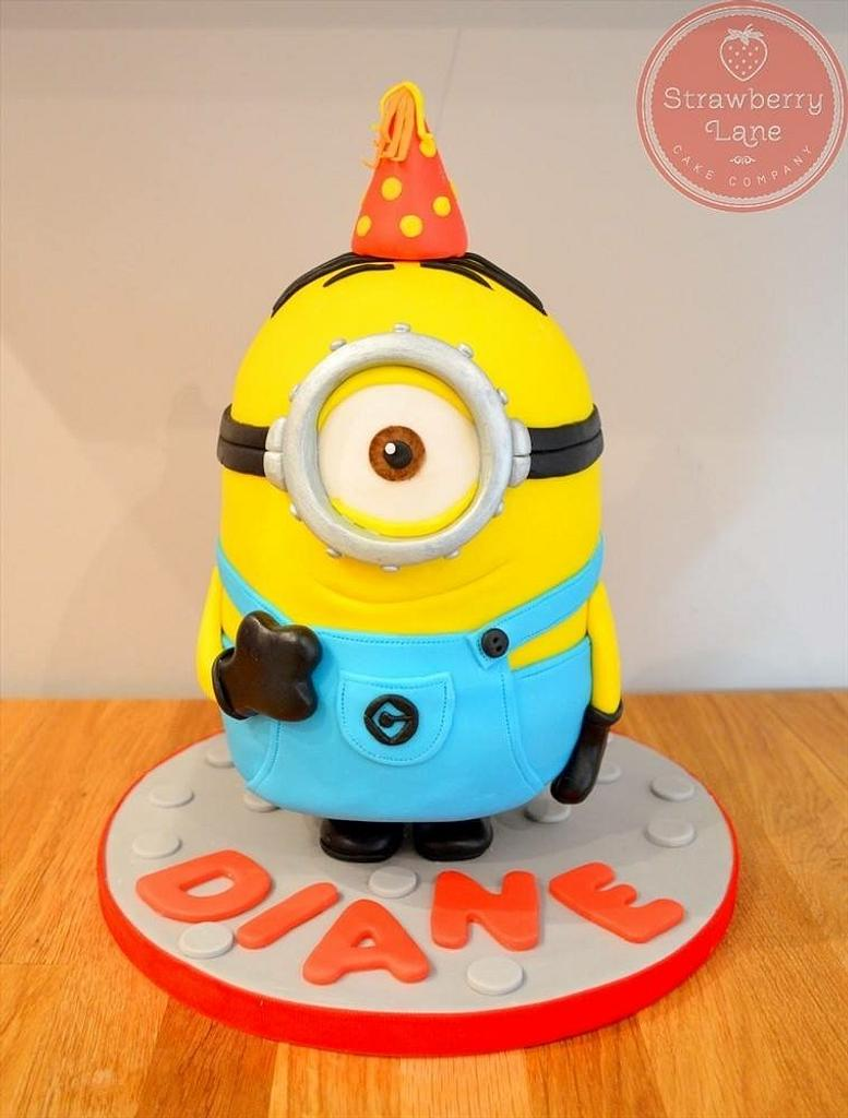 Standing Minion cake  by Strawberry Lane Cake Company
