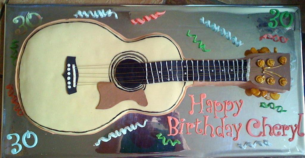 Acoustic guitar cake by salco