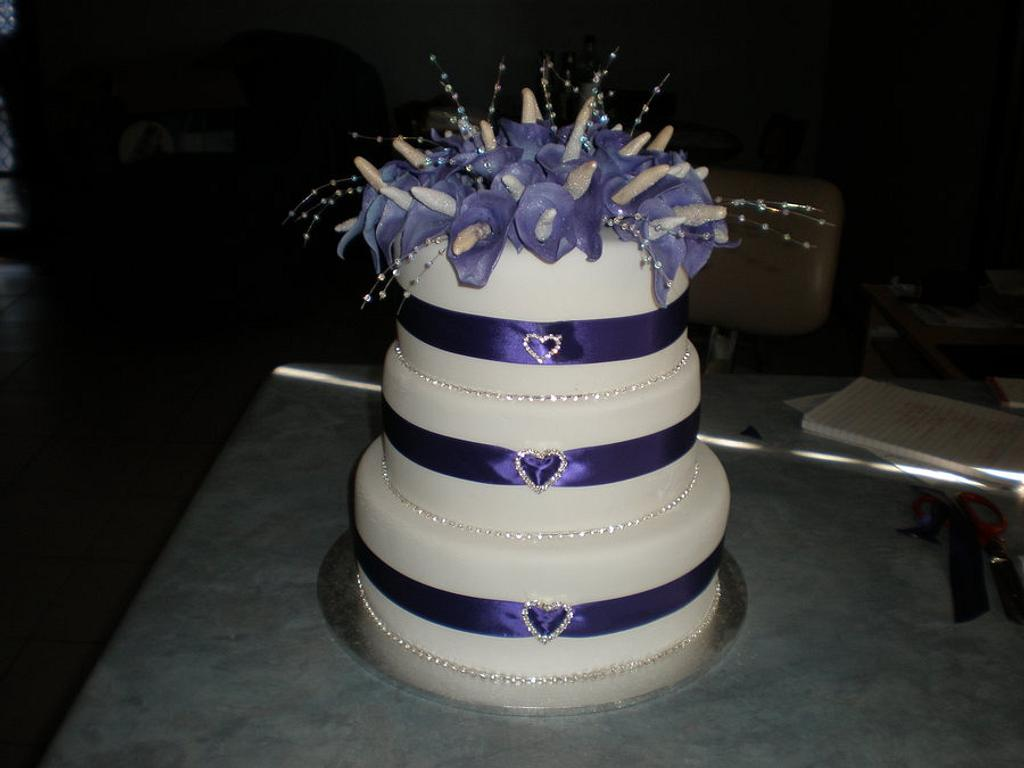 Calla Lilly Wedding Cake by Sugarart Cakes