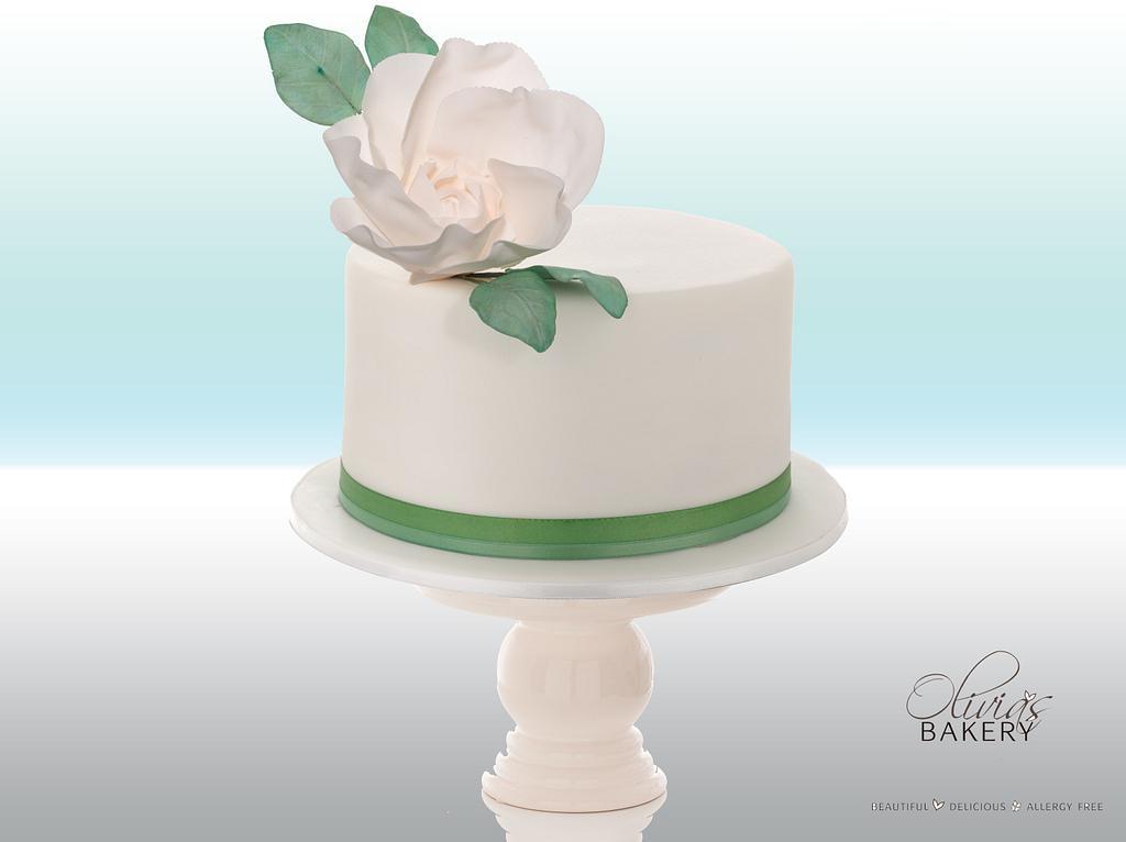 Green Mini Wedding Cake by Olivia's Bakery