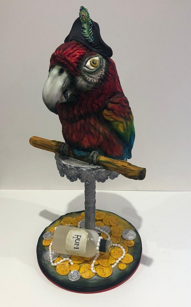 The Sugar Pirate Parrot  by Sarah Leftley (Sarah's cakes)