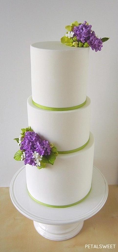 Lilac Wedding Cake by Petalsweet