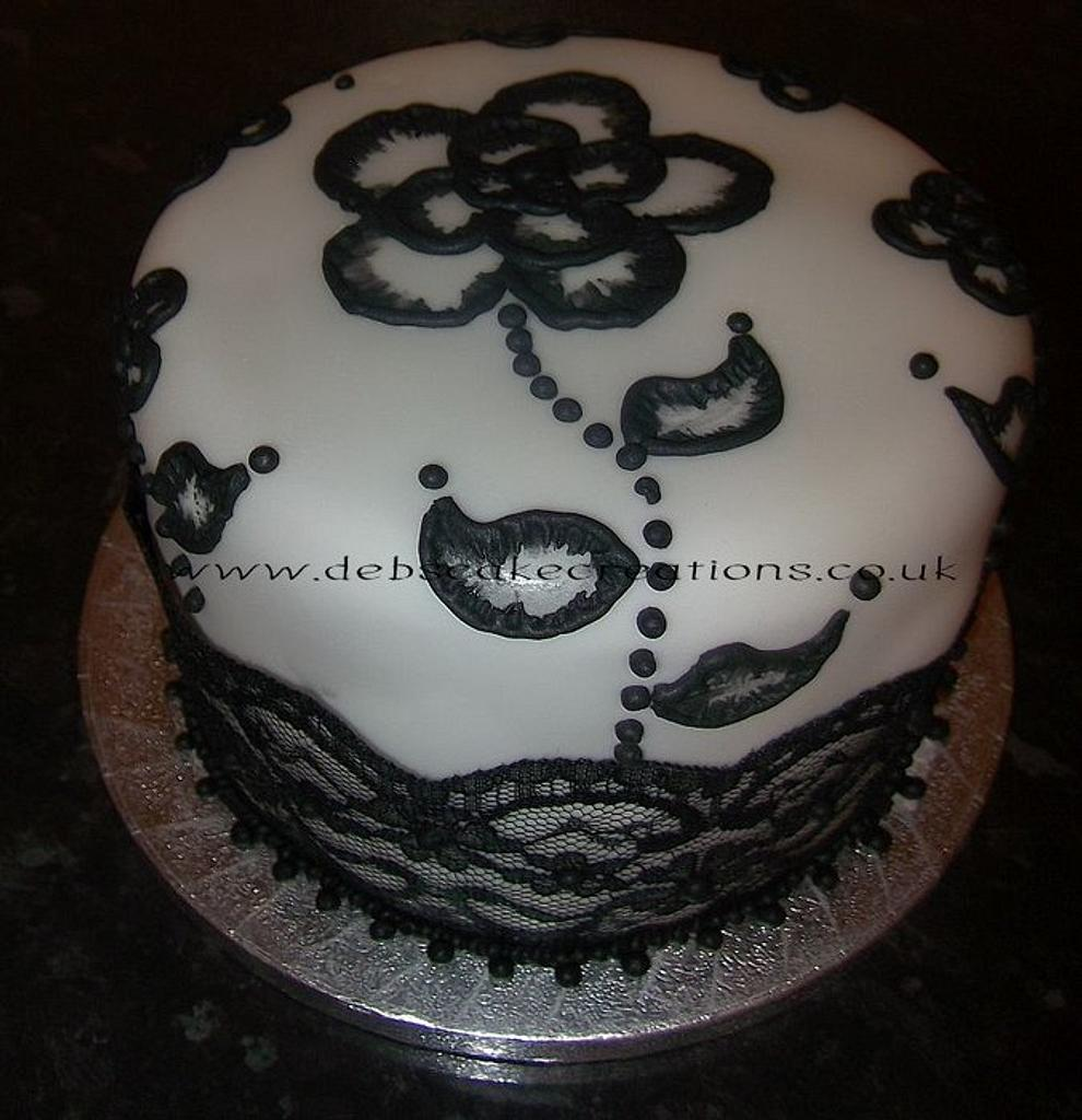 Black & White Elegance. by debscakecreations