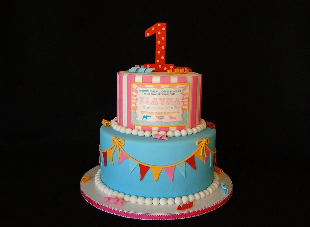 Circus Themed Cake by Elisa Colon