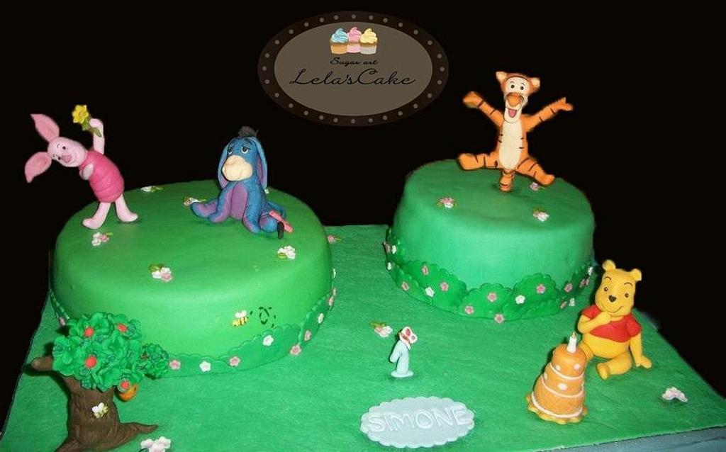 winnie the pooh cake  by Daniela Morganti (Lela's Cake)