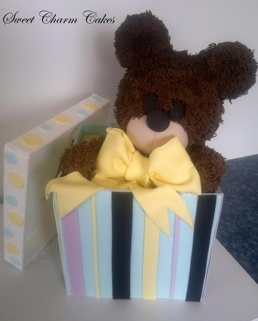 Ted in Box cake  by Sweet Charm Cakes