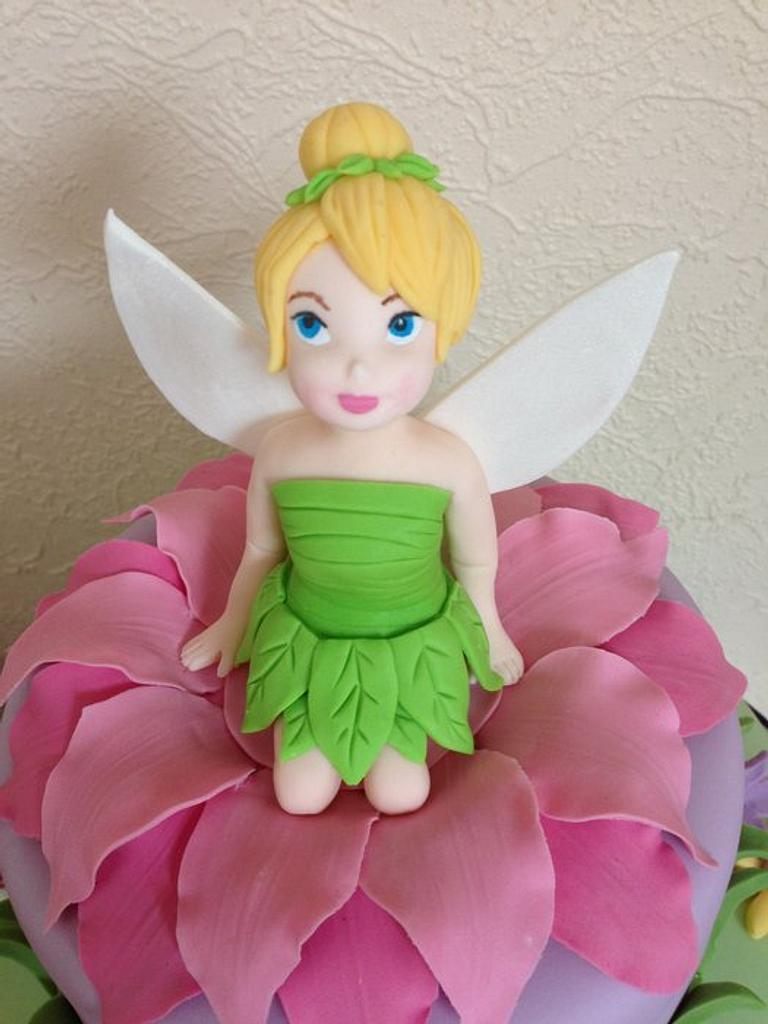 Tinkerbell Cake by Cakes by Kirsty