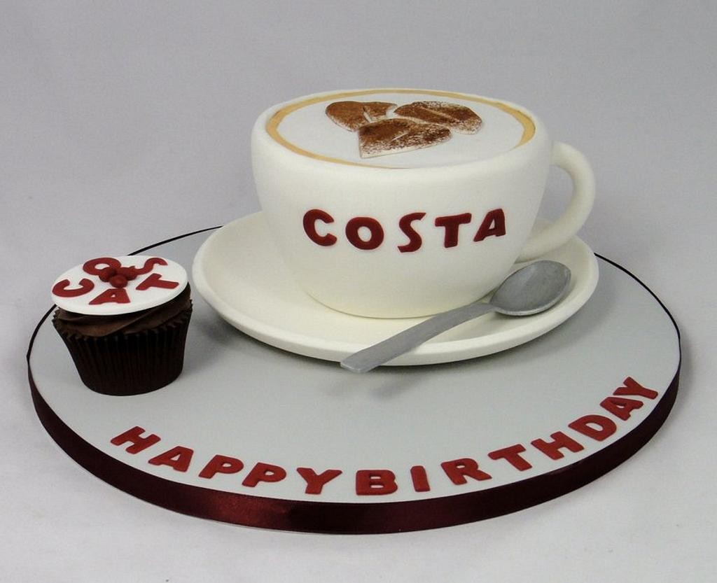 Costa Coffee Cup Novelty Cake by Ceri Badham