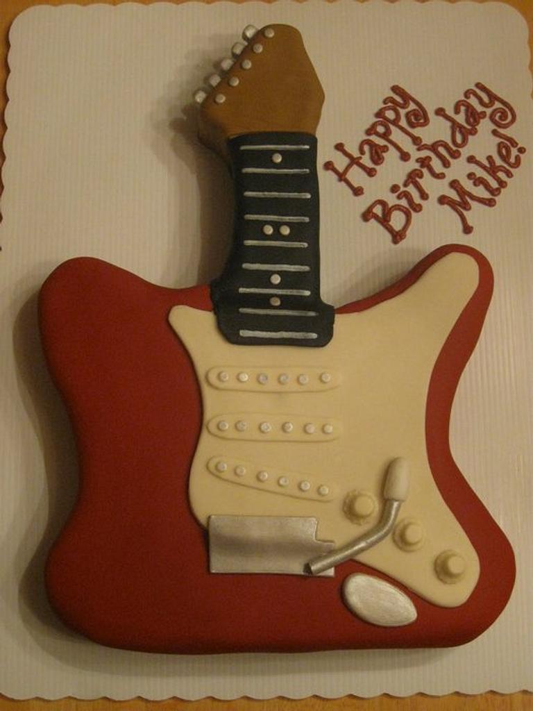 Fender Stratocaster Cake by Becky Pendergraft