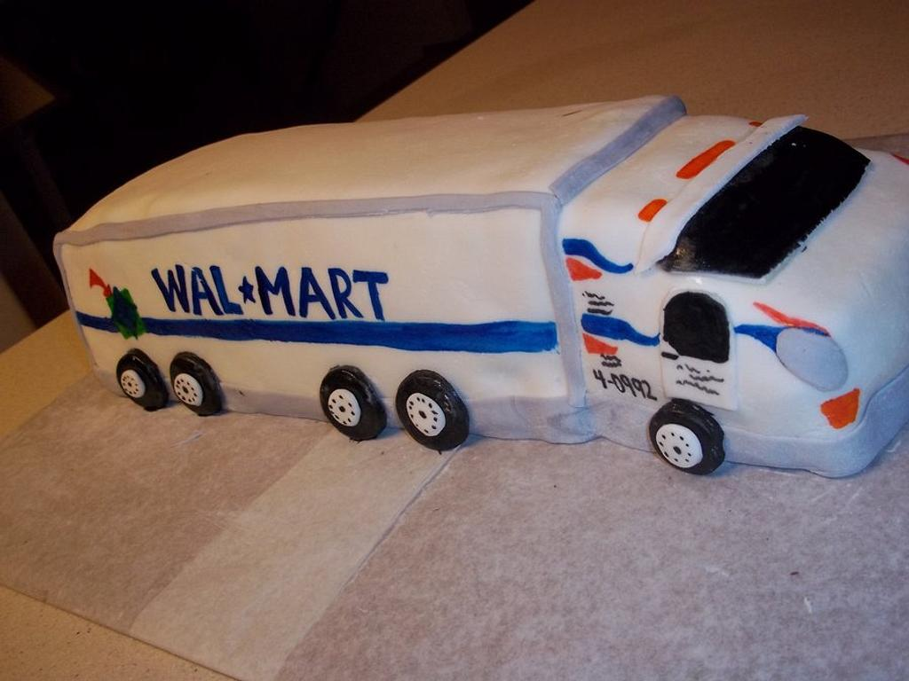 Wal-Mart Truck Cake  by cakes by khandra