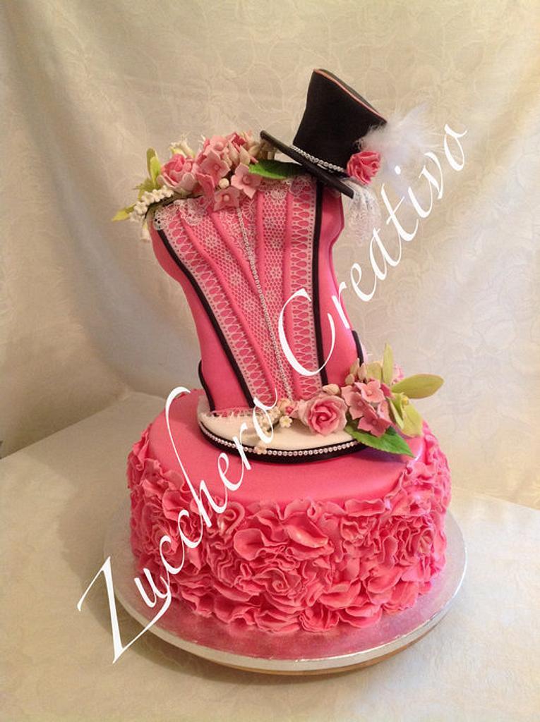 Glamour Burlesque Cake by ZuccheroCreativo