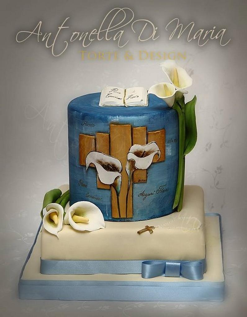 Flavio's First Communion Cake by Antonella Di Maria