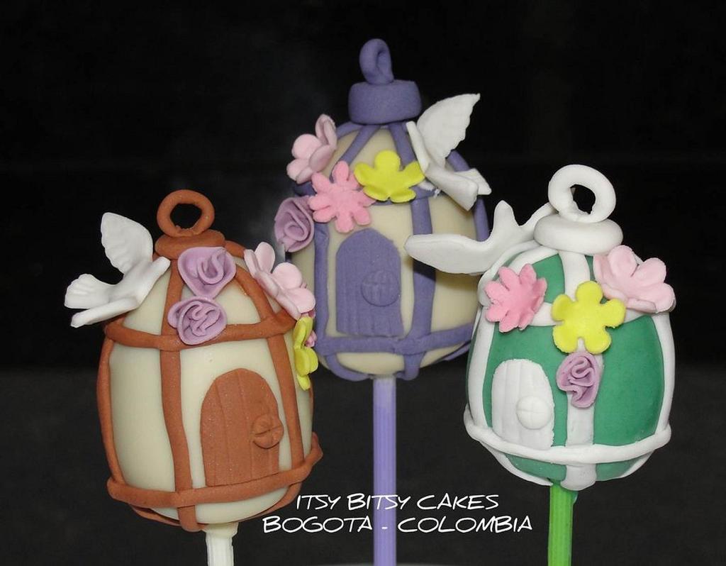 BIRDCAGE CAKEPOPS by Itsy Bitsy Cakes