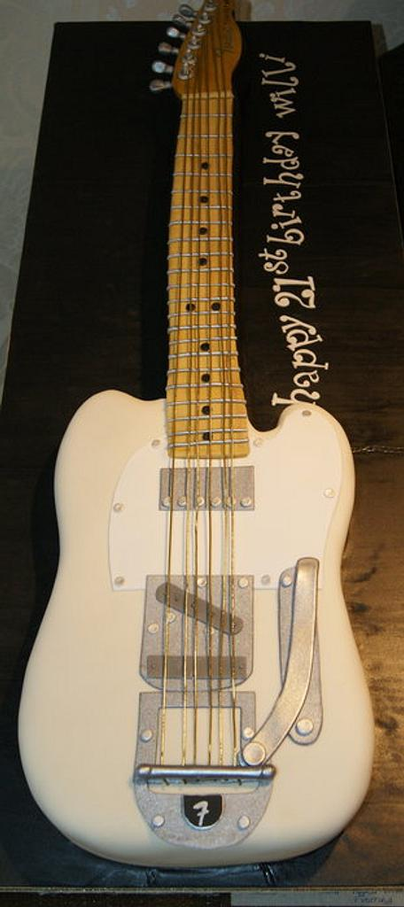 Fender Telecaster Guitar Cake by Nina Stokes