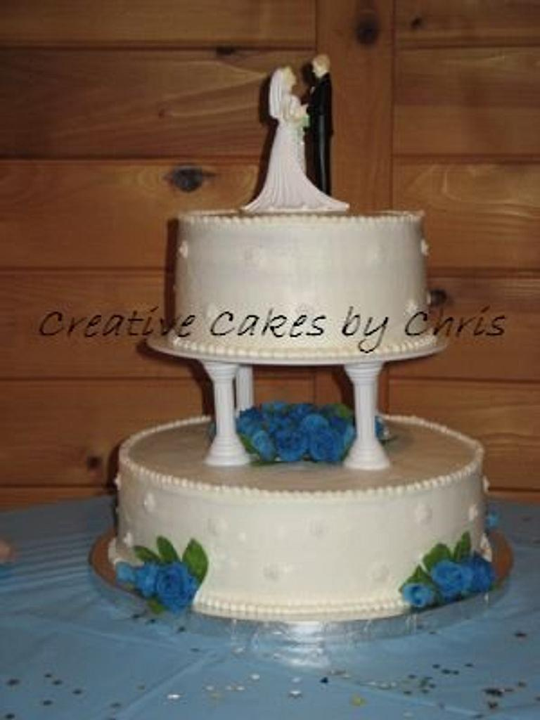 Blue roses wedding by Creative Cakes by Chris