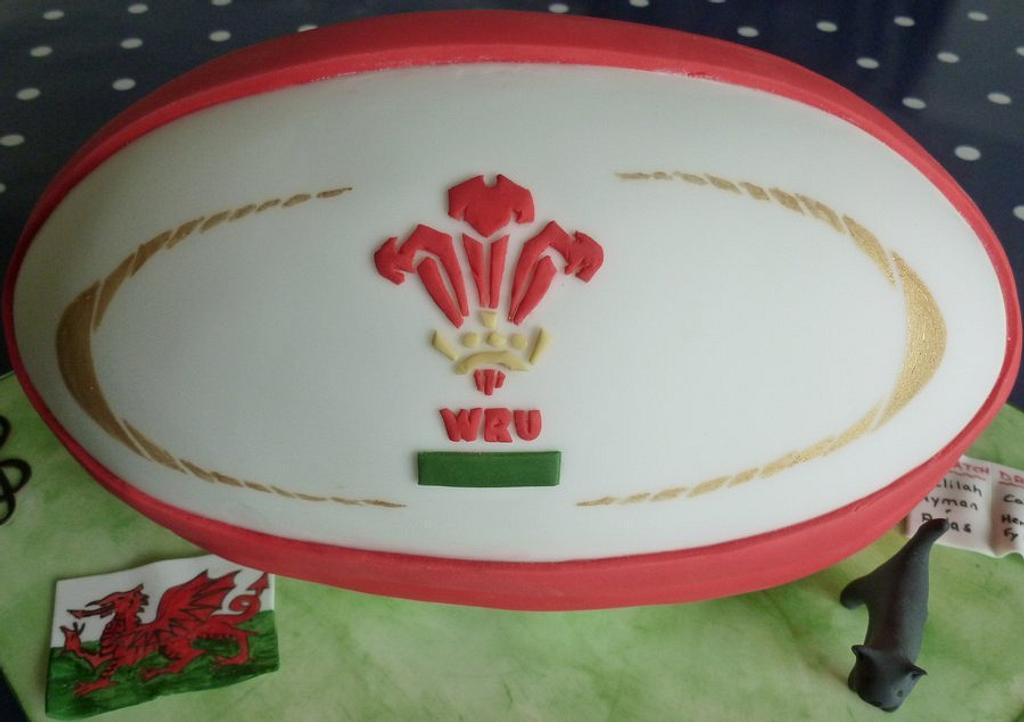 Welsh rugby Ball by Katrinaskakes