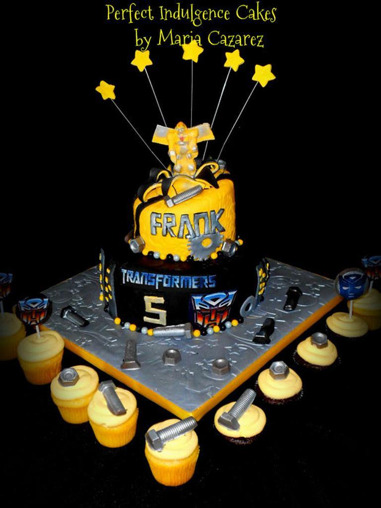 Frankie's Transformers Birthday Cake by Maria Cazarez Cakes and Sugar Art