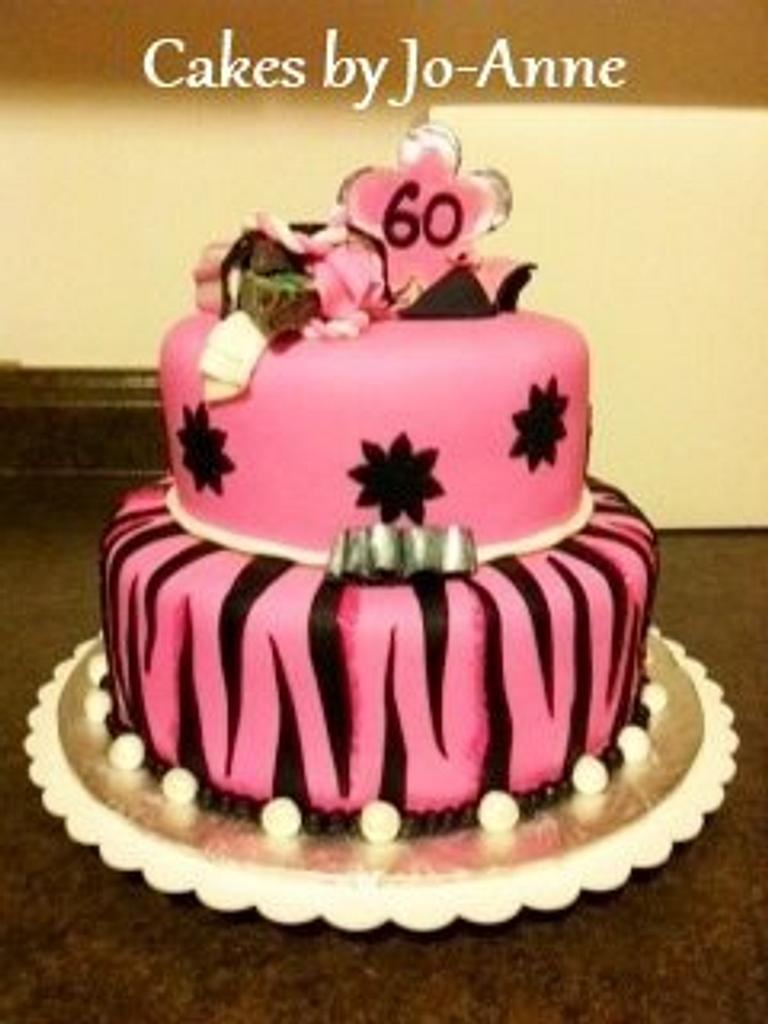 Pink 60th for a Shopaholic! by Cakes by Jo-Anne