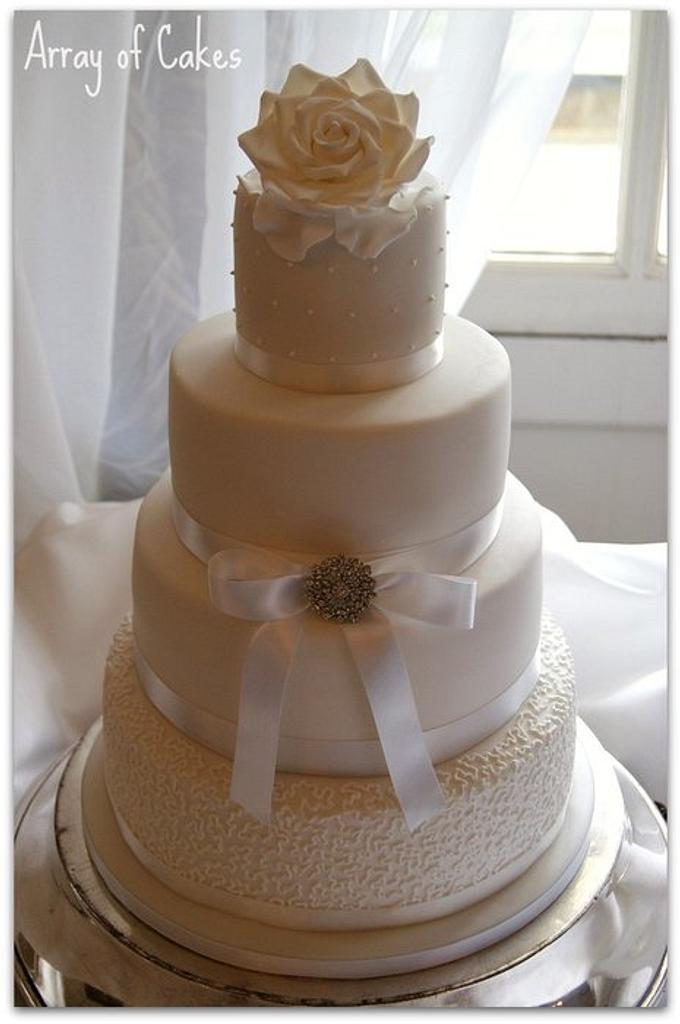 4 Tier Wedding Cake by Emma