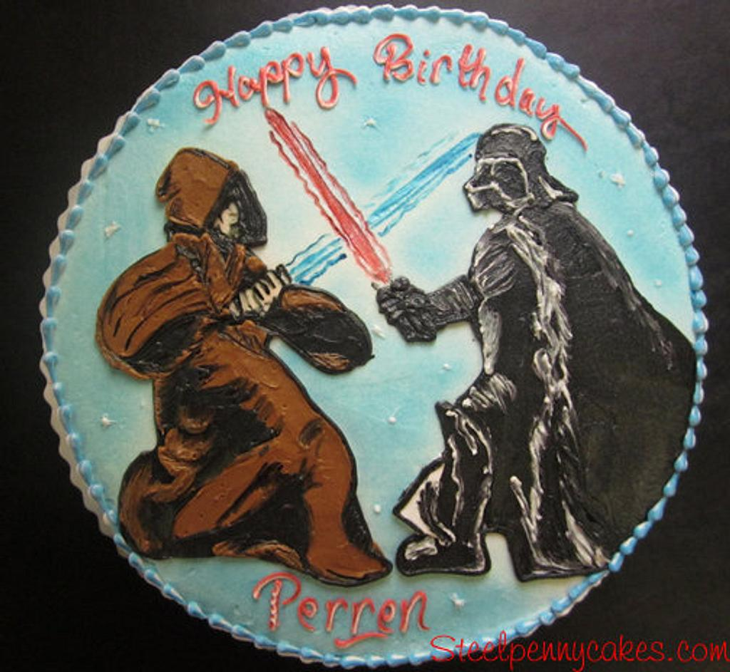 Star Wars -Obi Wan vs Darth Vader by Steel Penny Cakes, Elysia Smith