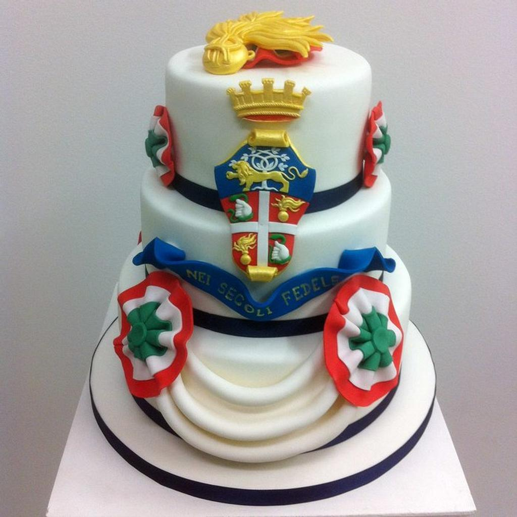Cake for national military police of Italy by Bella's Bakery