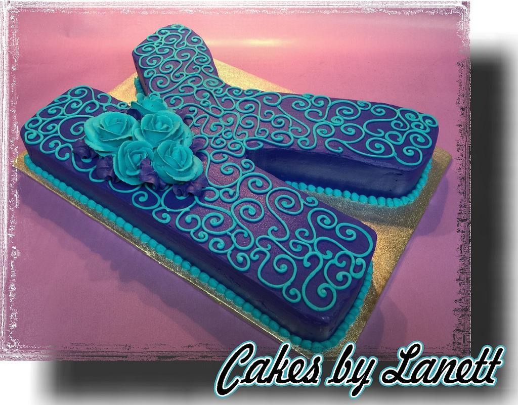 K Cutout Cake by lanett