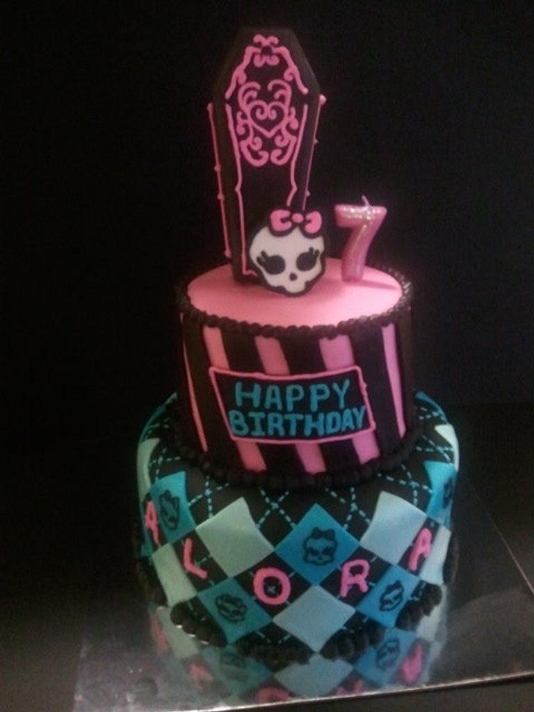 Monster High Birthday cake by Mimi's Sweet Shoppe Amanda Burgess