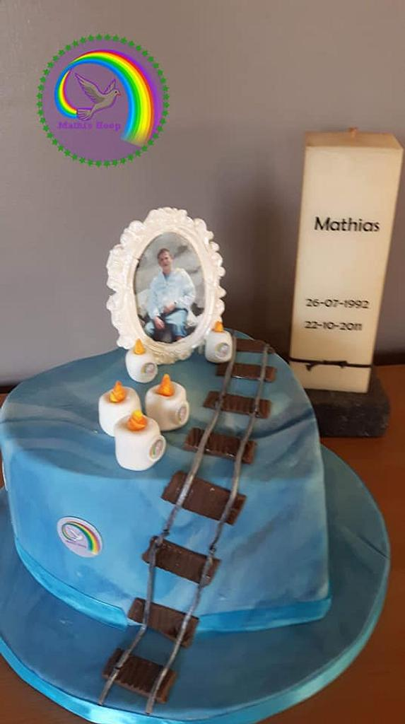 Sugar art tegen pesten vzw Mathi's hoop - collaboration by Chris Toert