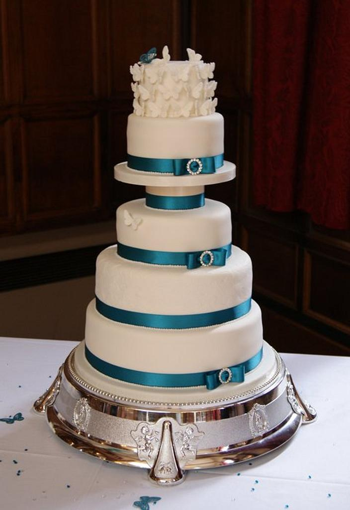 Butterfly Wedding Cake by Jayne Plant