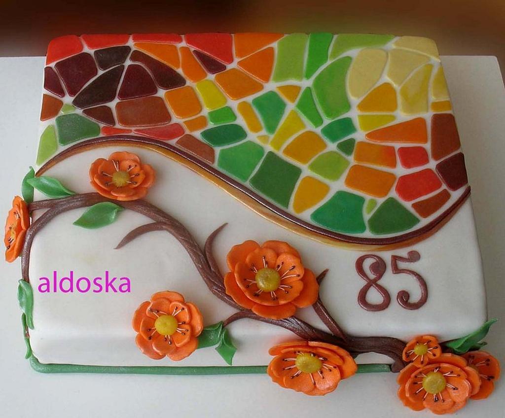 Mosaic cake by Alena