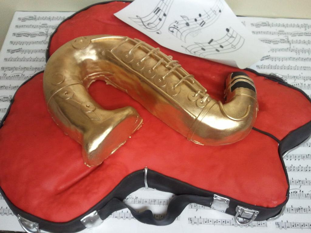Saxophone by Cake Creations by Trish